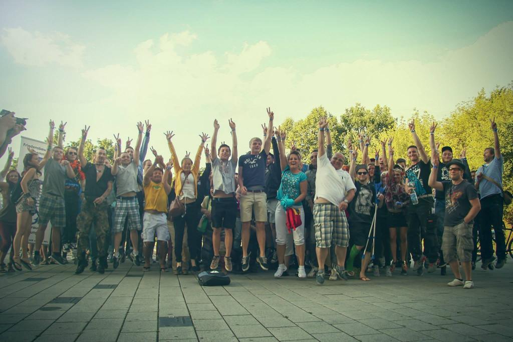 Bilder von der 14. Montagsdemo in Chemnitz vom 11.08.2014